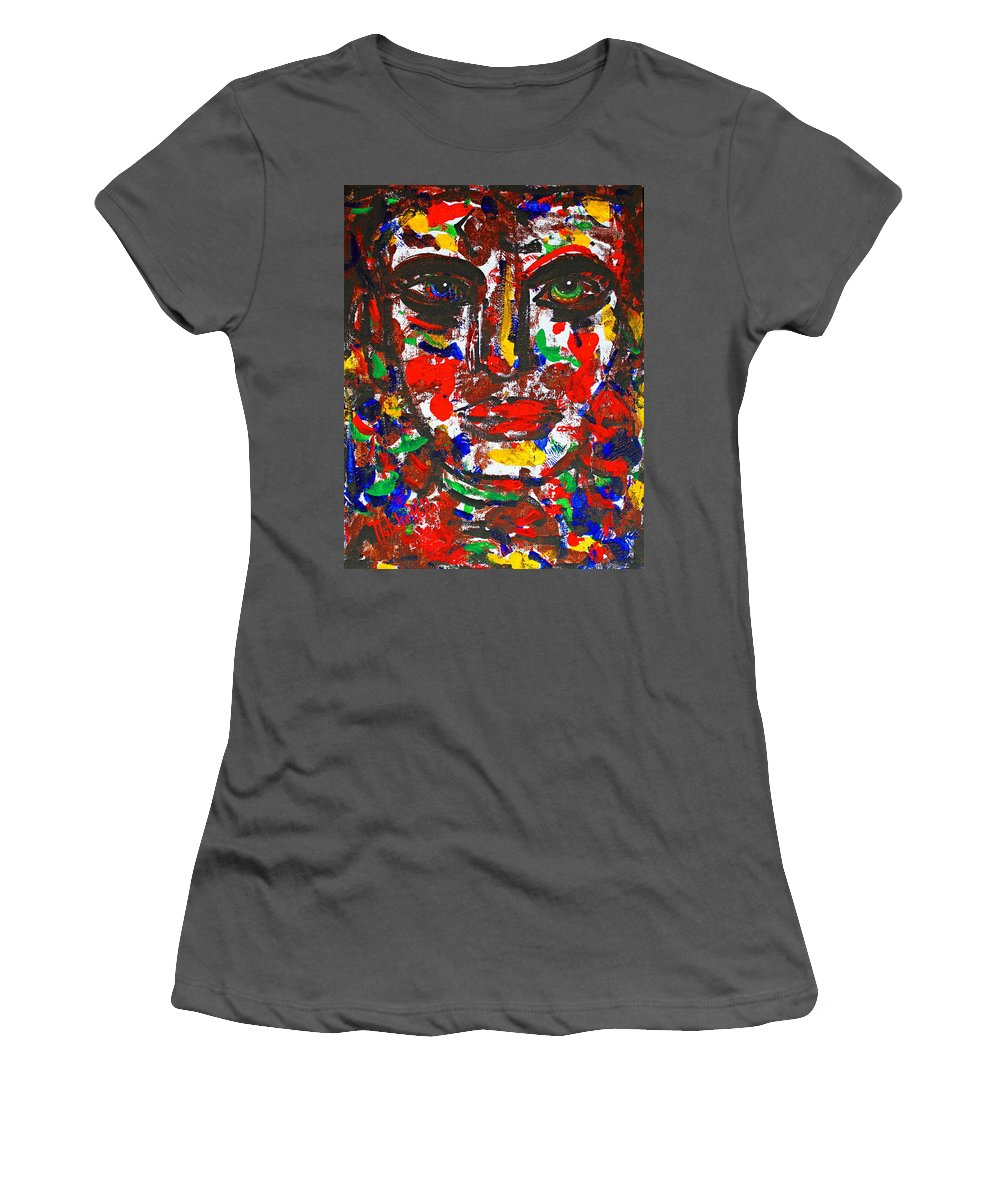 Expressionism Women's T-Shirt (Athletic Fit) featuring the painting I've Had Enough by Natalie Holland