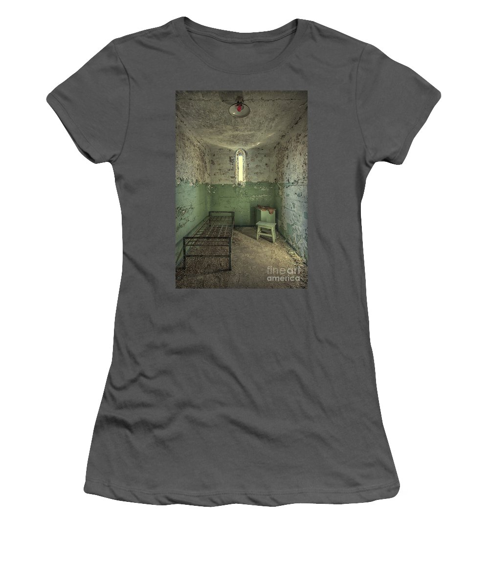 Penitentiary Women's T-Shirt (Athletic Fit) featuring the photograph Judgementality by Evelina Kremsdorf