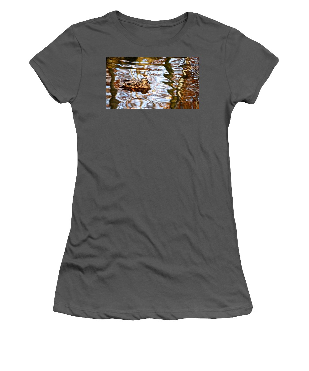 Jungle Women's T-Shirt (Athletic Fit) featuring the photograph Jungle Water by Frozen in Time Fine Art Photography