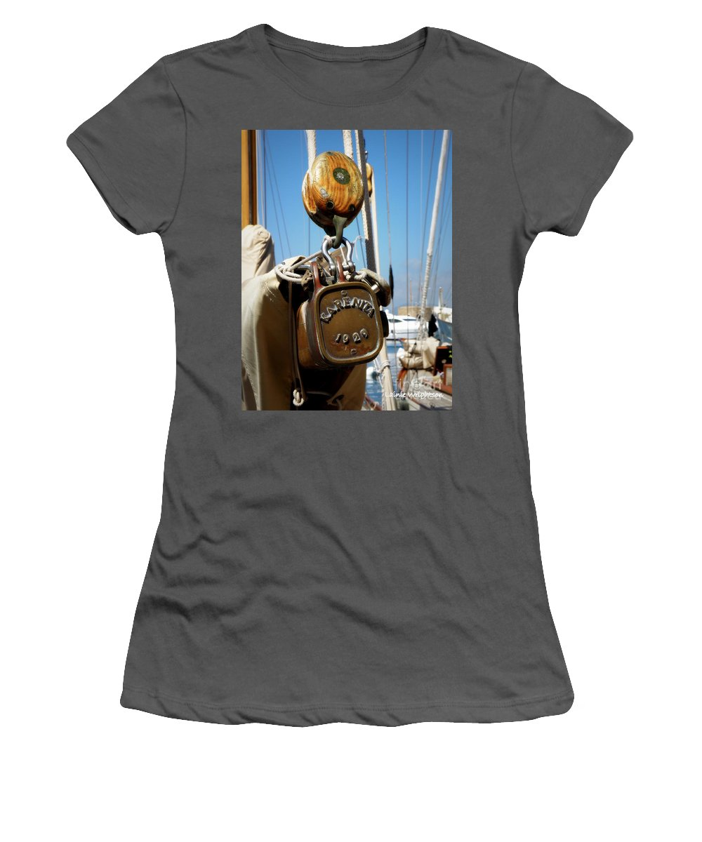 Sailing Women's T-Shirt (Athletic Fit) featuring the photograph Karenita 1929 by Lainie Wrightson