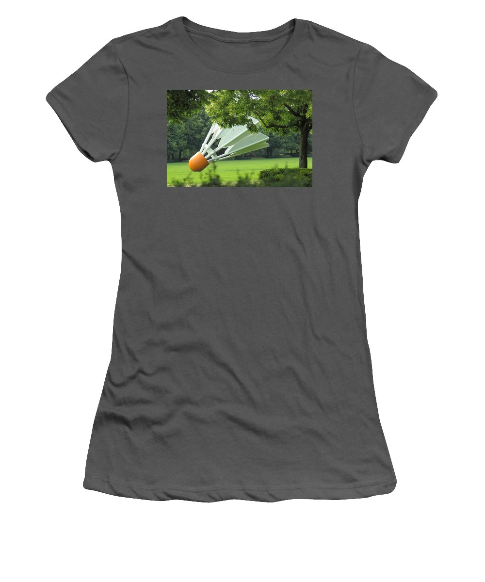 Kansas City Women's T-Shirt (Athletic Fit) featuring the photograph Land Of Giants by Ken Kobe