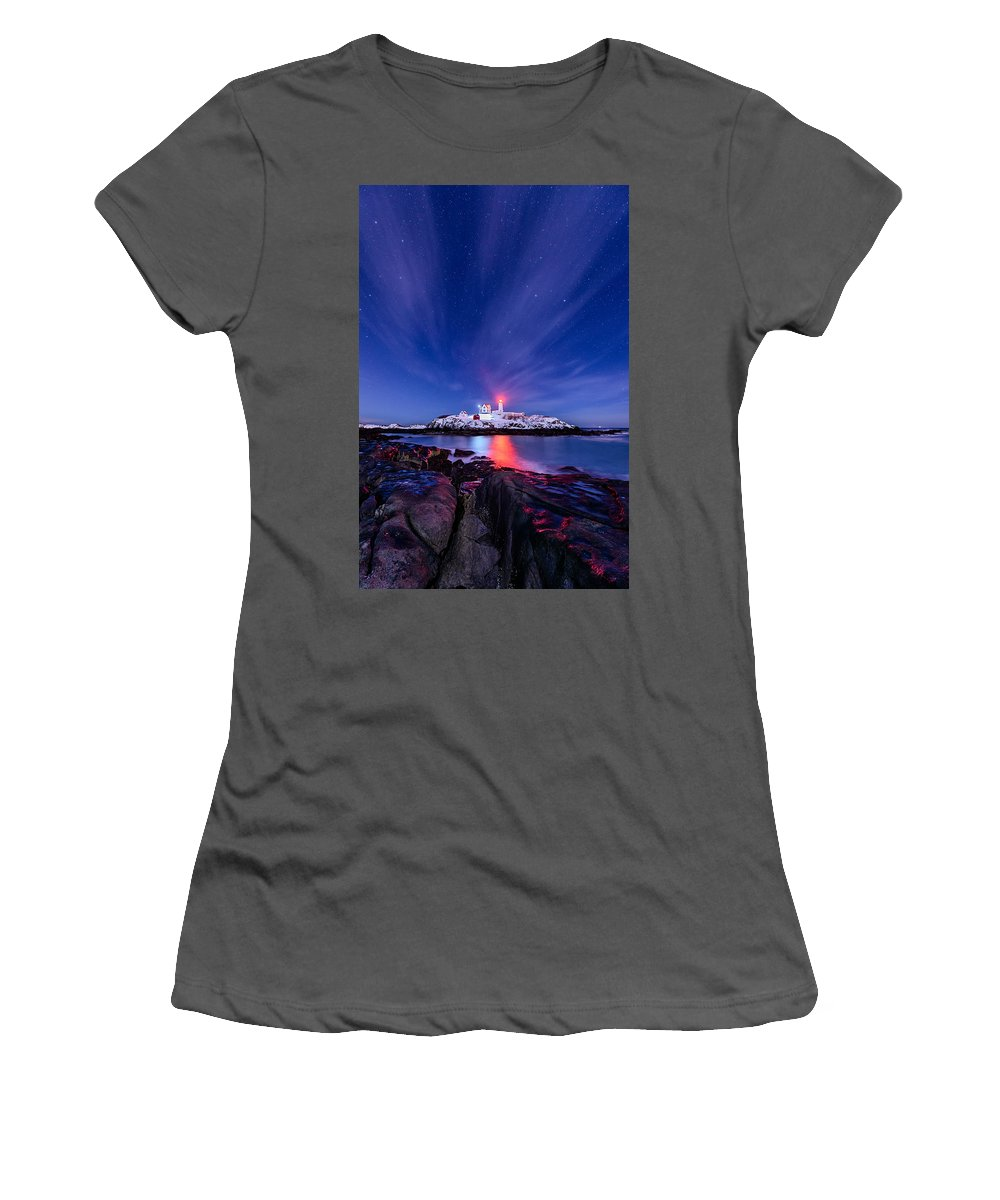 Maine Women's T-Shirt (Athletic Fit) featuring the photograph Light Vapor by Michael Blanchette