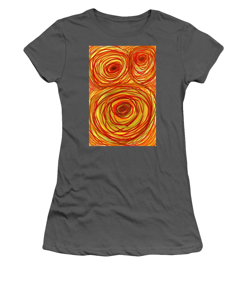 Abstract Women's T-Shirt (Athletic Fit) featuring the painting Look Deep by Jeff Gater
