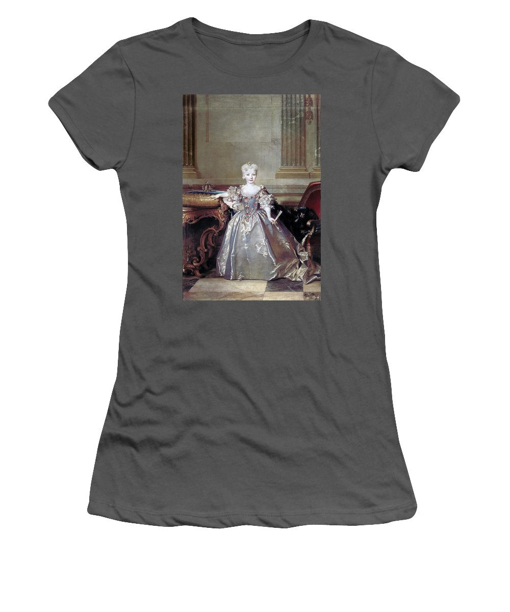 1724 Women's T-Shirt (Athletic Fit) featuring the painting Mariana Victoria Of Spain (1718-1781) by Granger