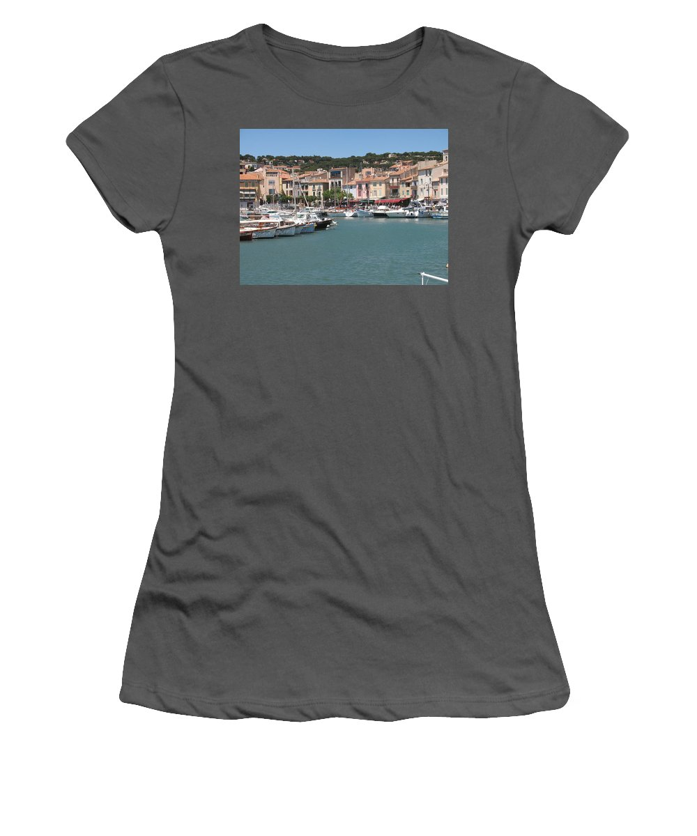 Harbor Women's T-Shirt (Athletic Fit) featuring the photograph Marina Cassis by Christiane Schulze Art And Photography