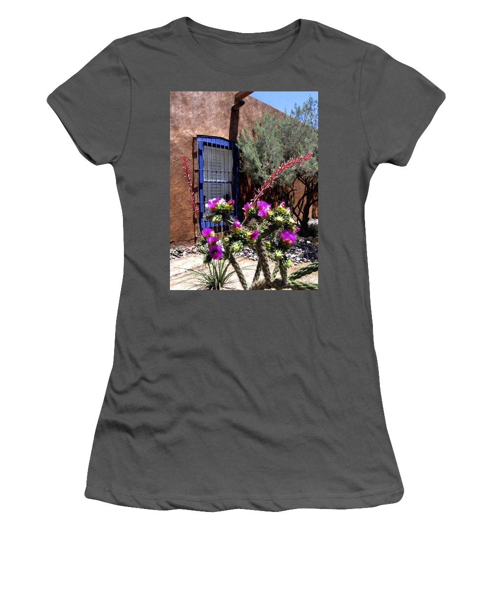 Mesilla Women's T-Shirt (Athletic Fit) featuring the photograph Mesilla Cholla by Kurt Van Wagner