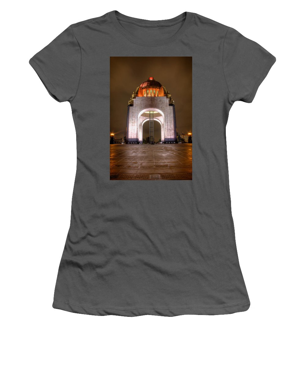 City Women's T-Shirt (Athletic Fit) featuring the photograph Mexican Revolution by Genaro Rojas