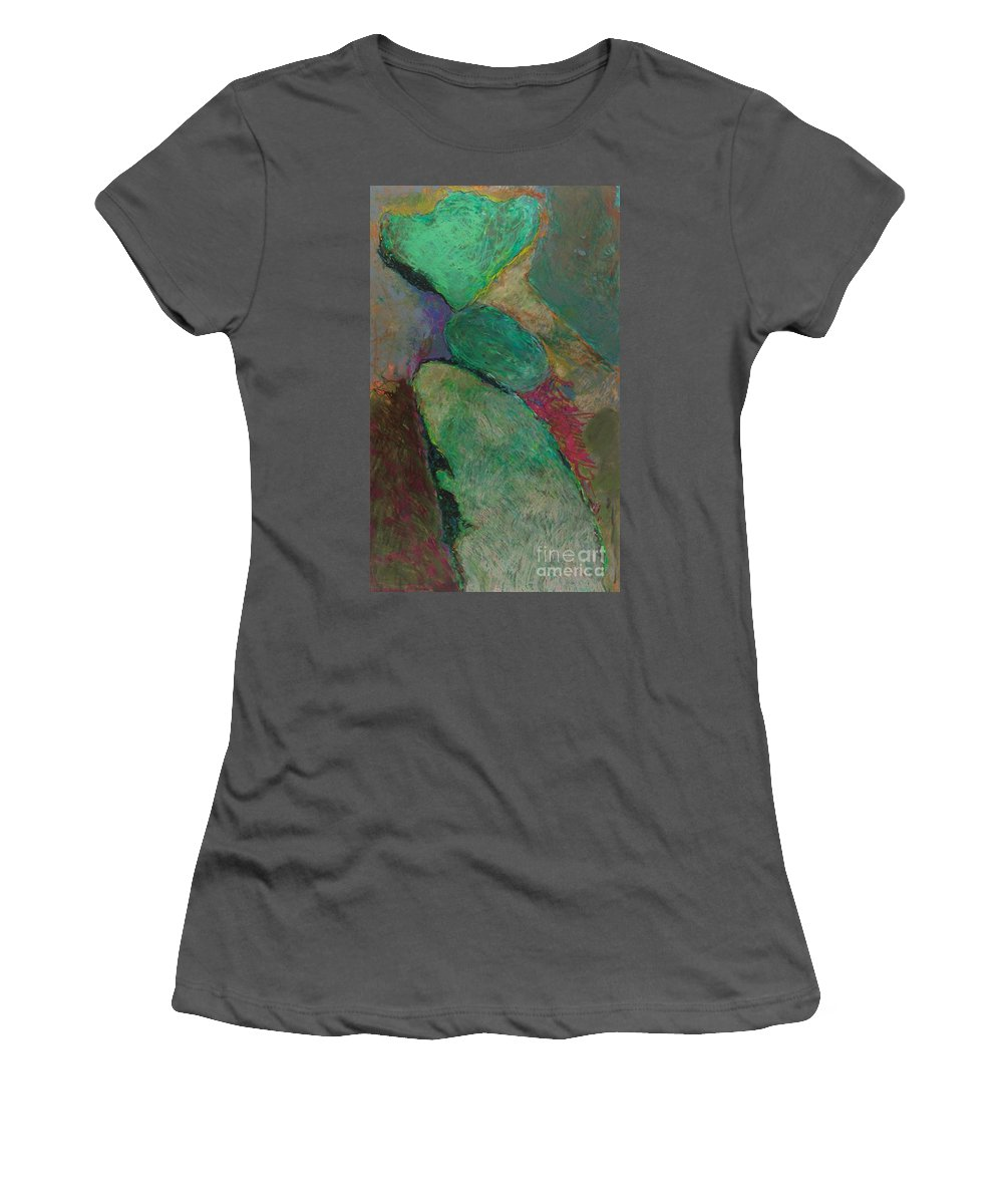 Landscape Women's T-Shirt (Athletic Fit) featuring the painting Mighty Force by Allan P Friedlander