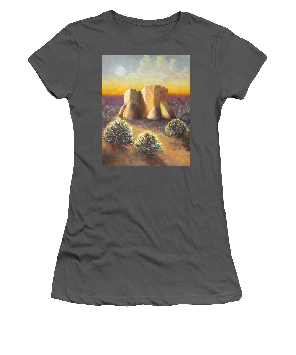 Landscape Women's T-Shirt (Athletic Fit) featuring the painting Mission Imagined by Jerry McElroy