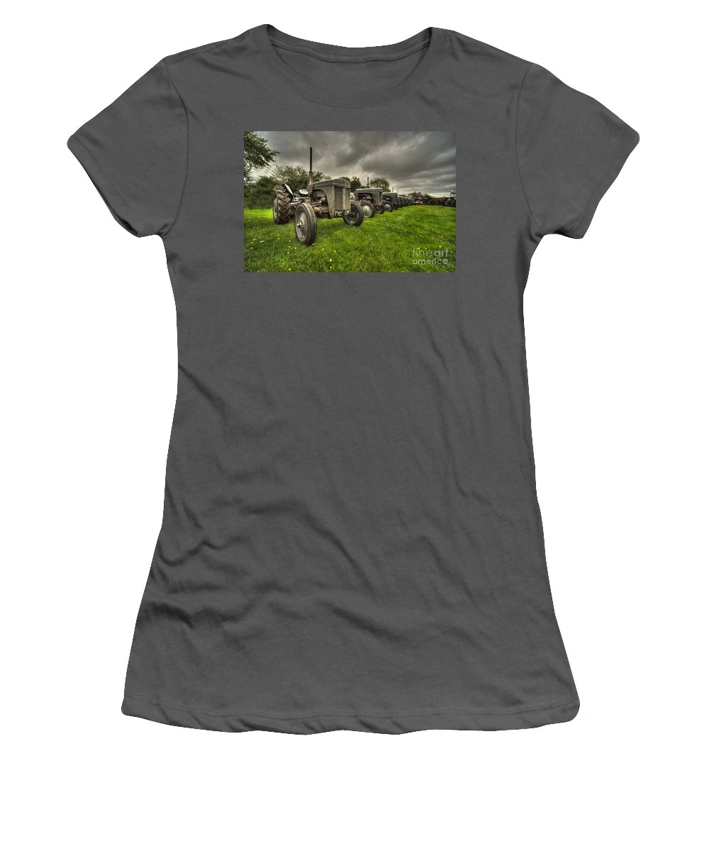 Tractor Women's T-Shirt (Athletic Fit) featuring the photograph Mostly Fergies by Rob Hawkins