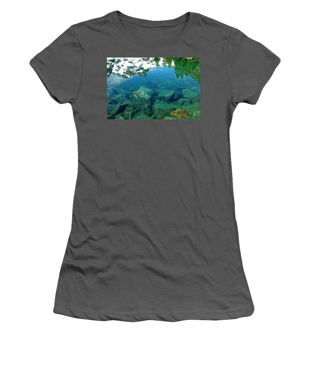 Lake Women's T-Shirt (Athletic Fit) featuring the photograph Mountain Lagoon by Donna Blackhall