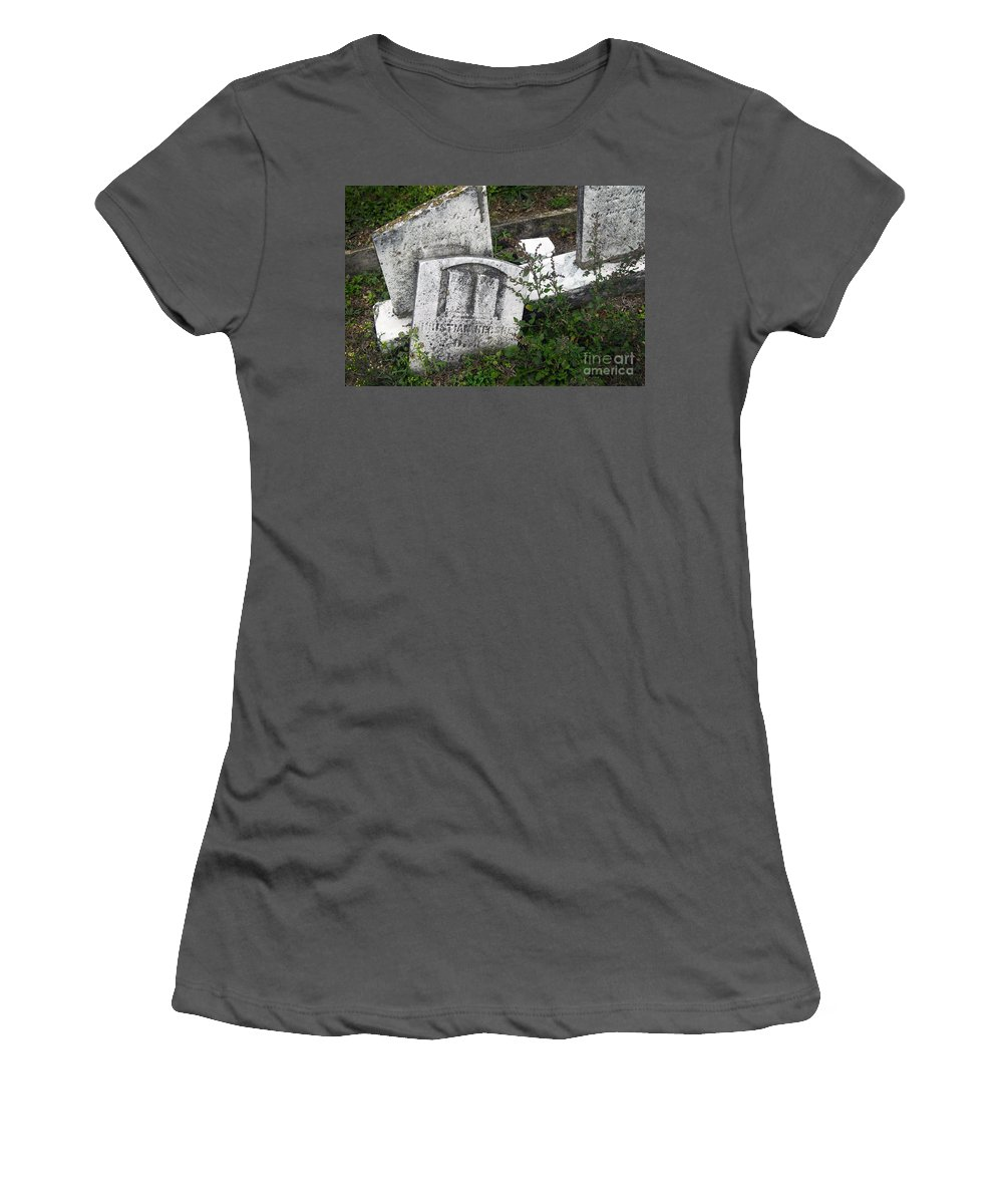 Cemetery Women's T-Shirt (Athletic Fit) featuring the photograph My Coward Series - 1297 by Paul W Faust - Impressions of Light