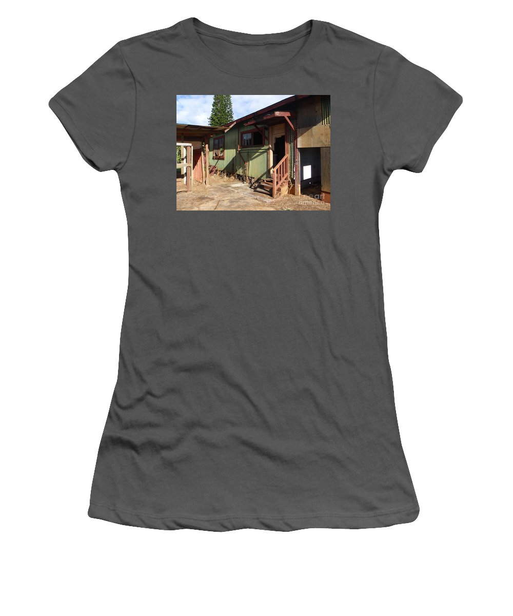 Mary Deal Women's T-Shirt (Athletic Fit) featuring the photograph Never Mind Knocking by Mary Deal