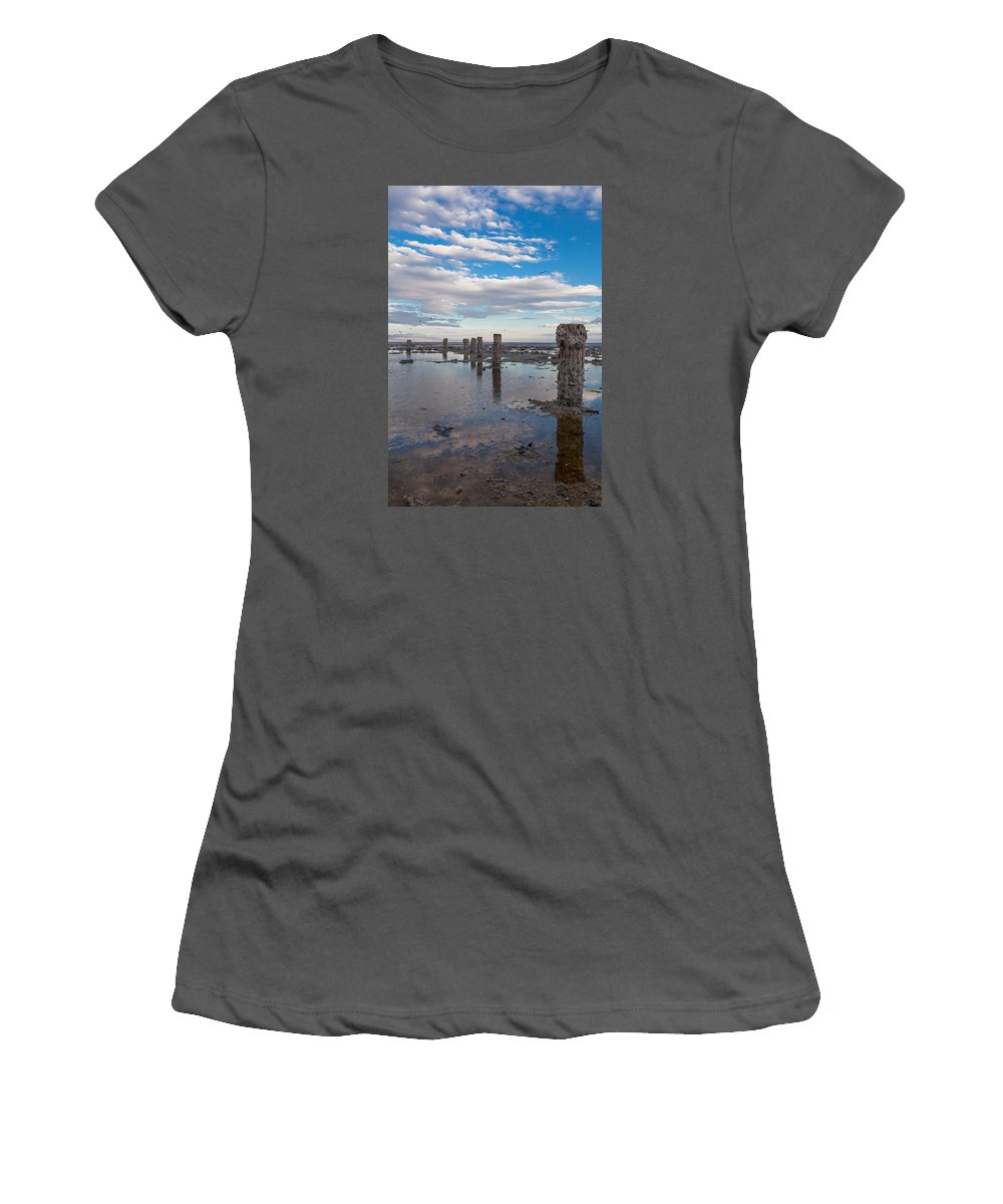 Pilings Women's T-Shirt (Athletic Fit) featuring the photograph No More Dock by Scott Campbell