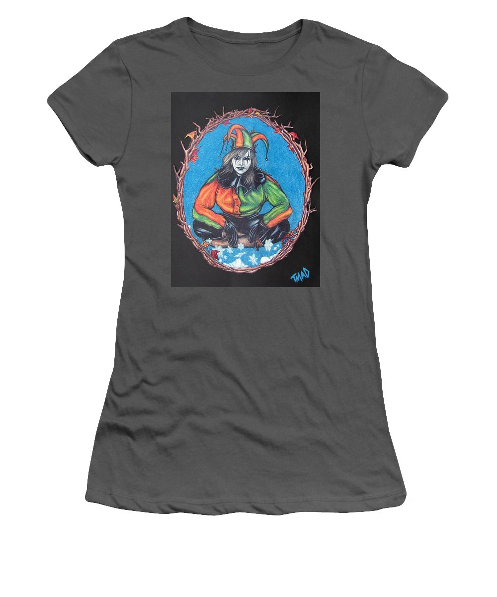 Michael Women's T-Shirt (Athletic Fit) featuring the drawing November Snow by Michael TMAD Finney