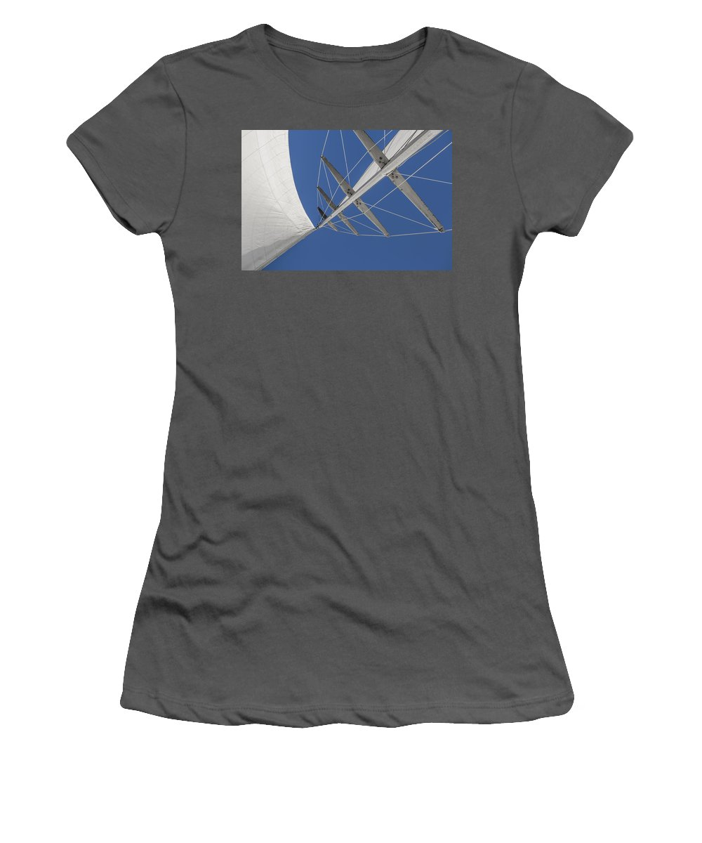 Sail Women's T-Shirt (Athletic Fit) featuring the photograph Obsession Sails 7 by Scott Campbell