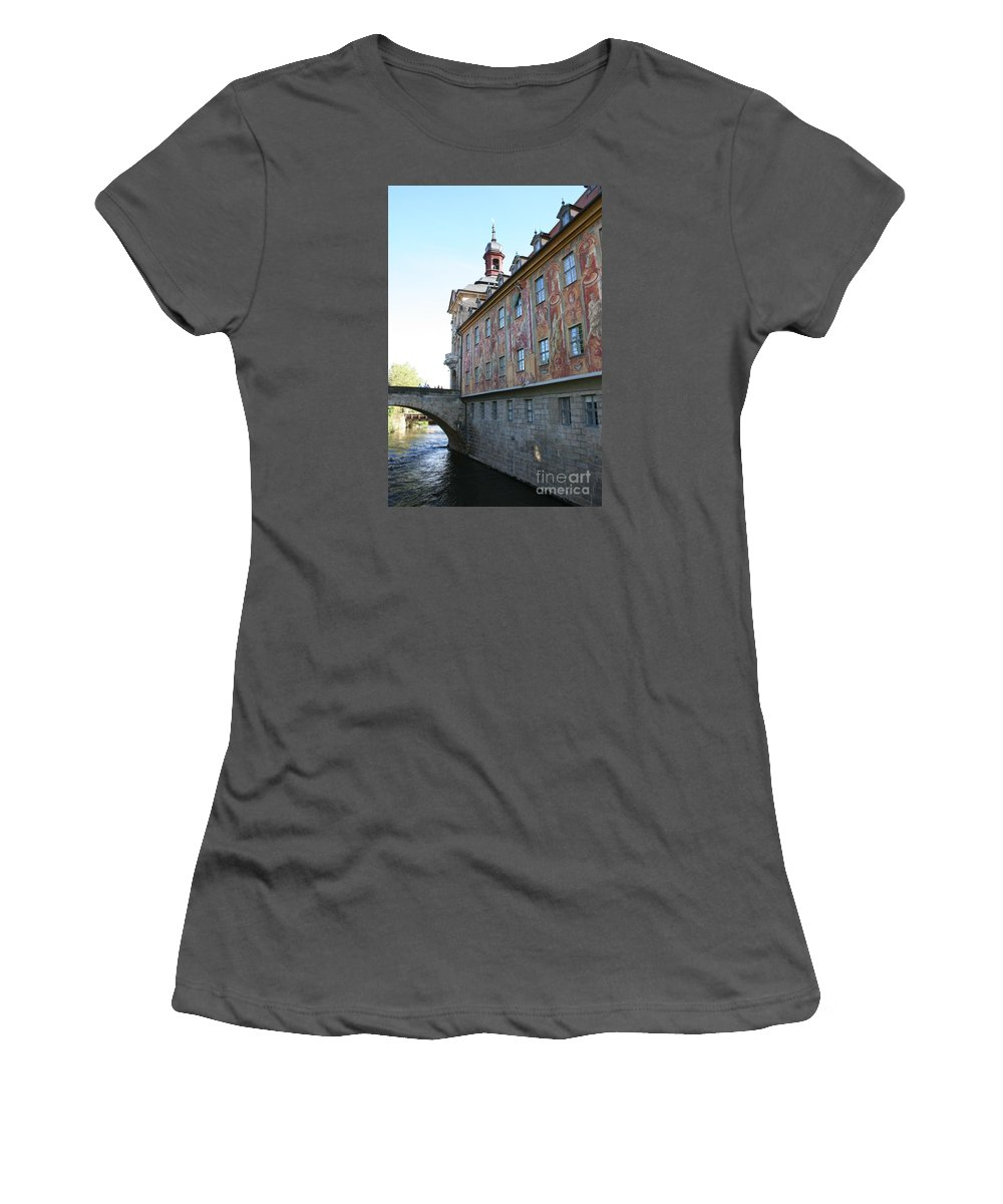 City Hall Women's T-Shirt (Athletic Fit) featuring the photograph Old City Hall - Bamberg - Germany by Christiane Schulze Art And Photography