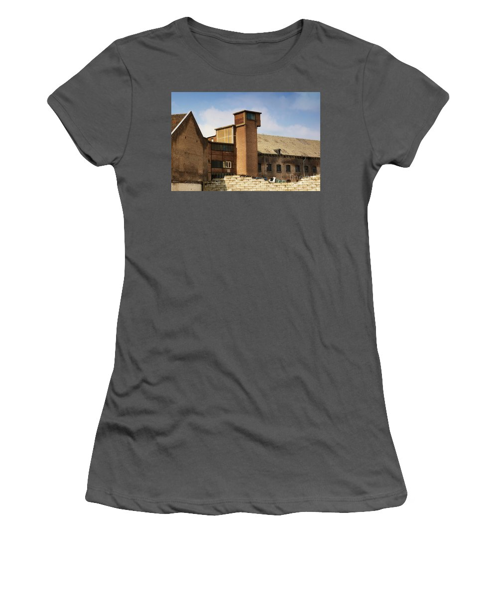 Old Women's T-Shirt (Athletic Fit) featuring the photograph Old Factory by Nick Biemans