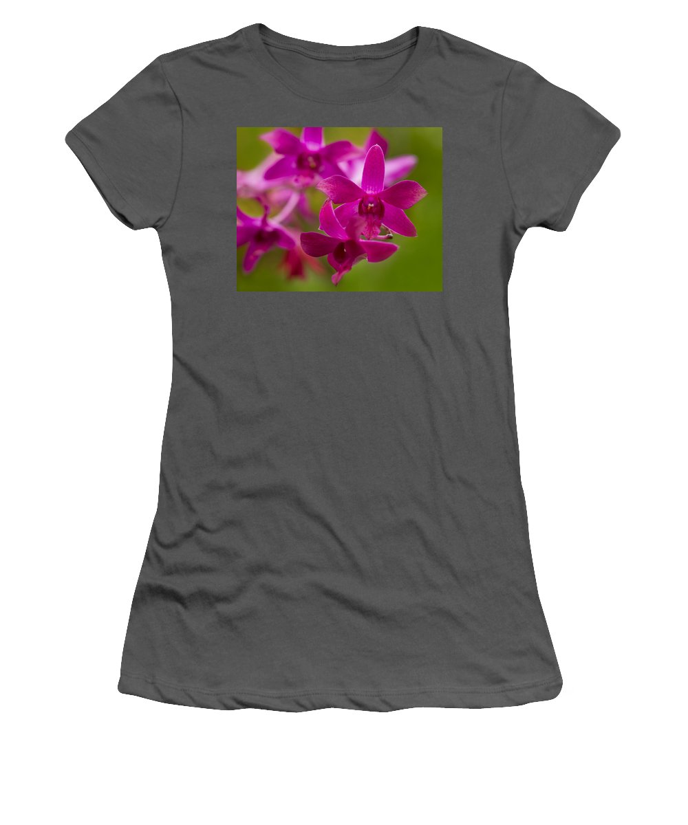 Purple Women's T-Shirt (Athletic Fit) featuring the photograph Orchid Splendor by Lindley Johnson
