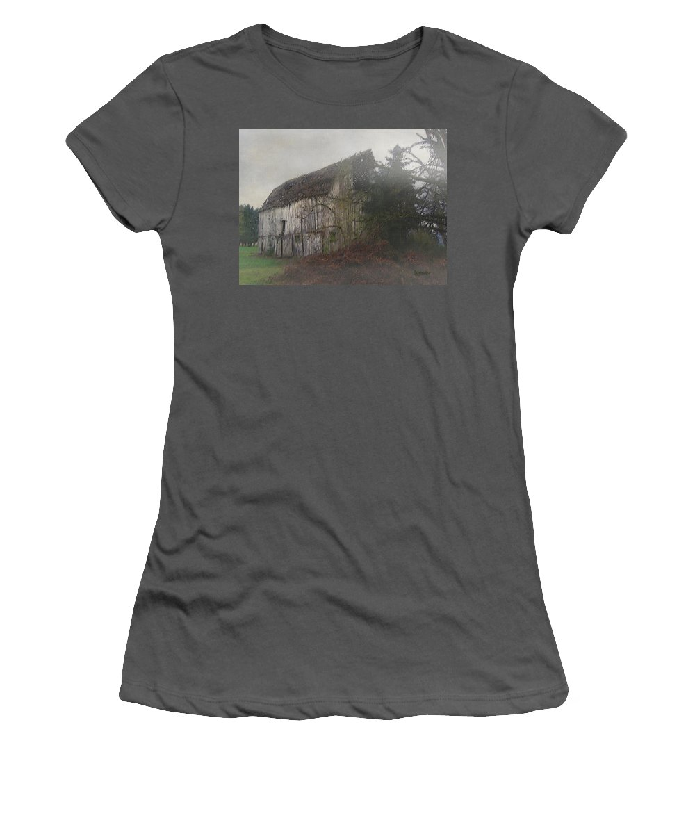 Barn Women's T-Shirt (Athletic Fit) featuring the painting Oregon Relic by RC deWinter