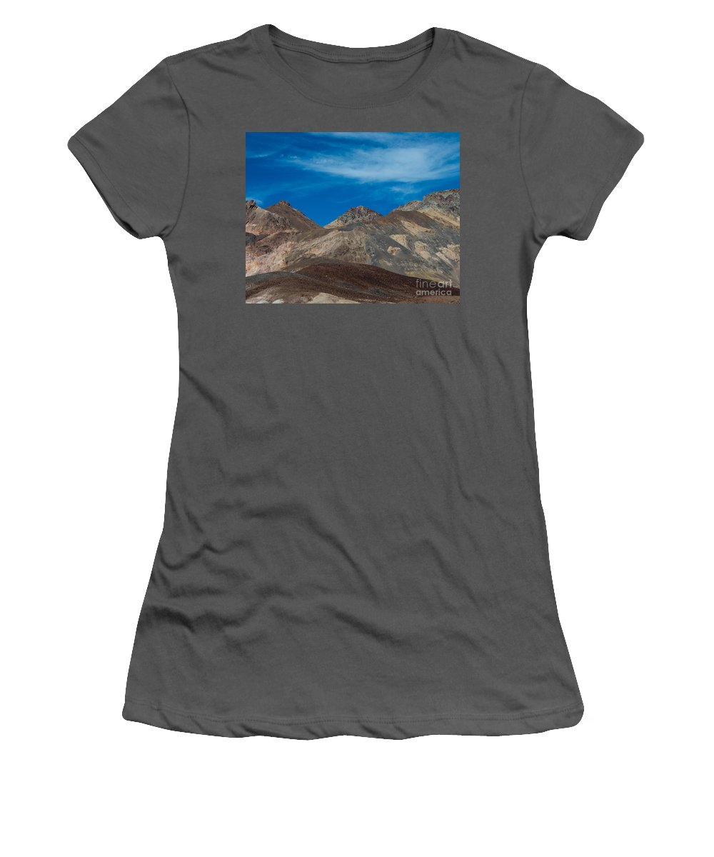 Death Valley Women's T-Shirt (Athletic Fit) featuring the photograph Painted Hills by Stephen Whalen