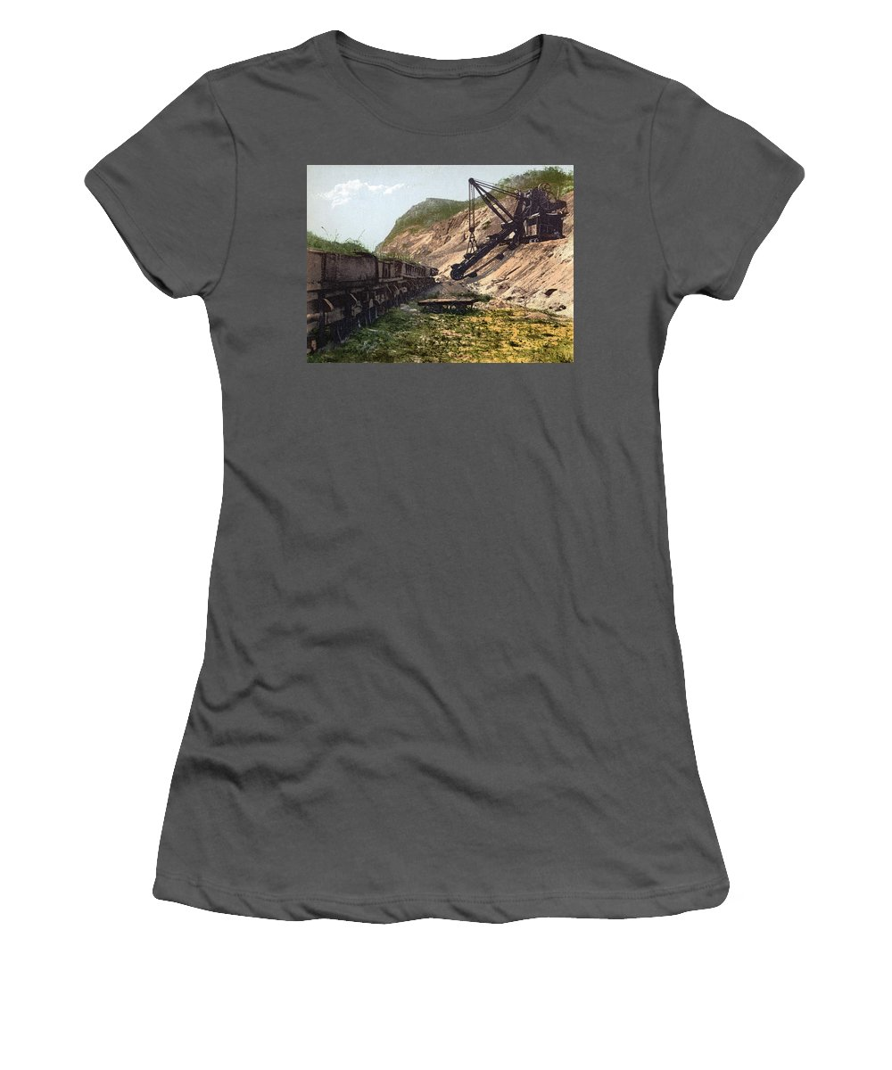 1890 Women's T-Shirt (Athletic Fit) featuring the photograph Panama Canal Culebra Cut by Granger