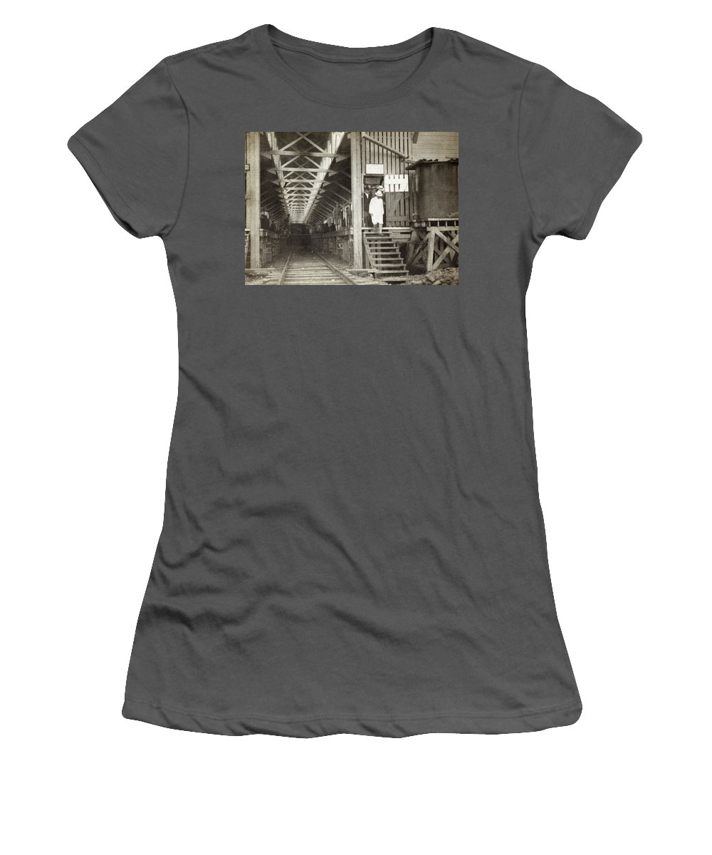 1900s Decade Women's T-Shirt (Athletic Fit) featuring the photograph Panama Roosevelt, C1906 by Granger