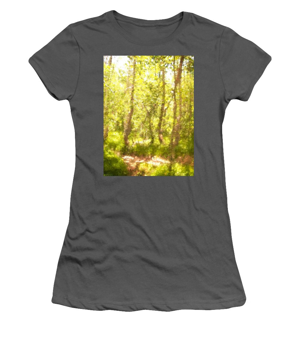 Path Women's T-Shirt (Athletic Fit) featuring the photograph Path 5 by Pamela Cooper