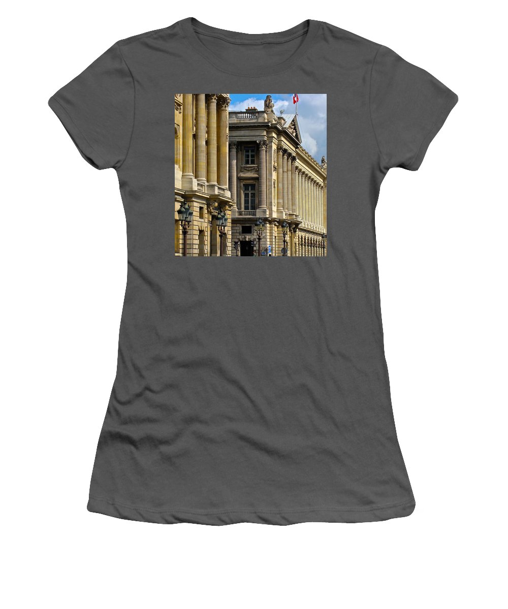 Paris Women's T-Shirt (Athletic Fit) featuring the photograph Place De La Concorde by Ira Shander