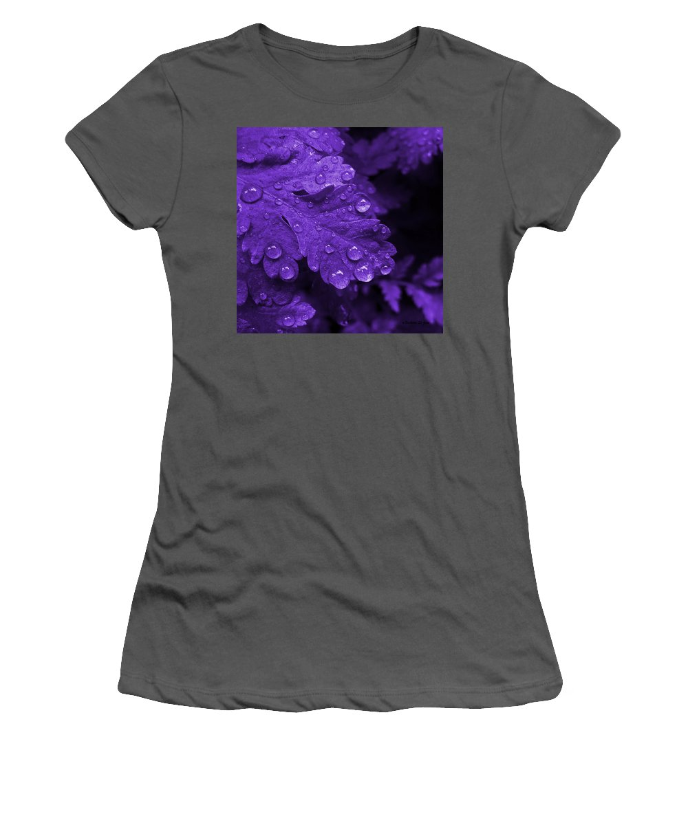 Photograph Women's T-Shirt (Athletic Fit) featuring the photograph Purple Rain by Barbara St Jean