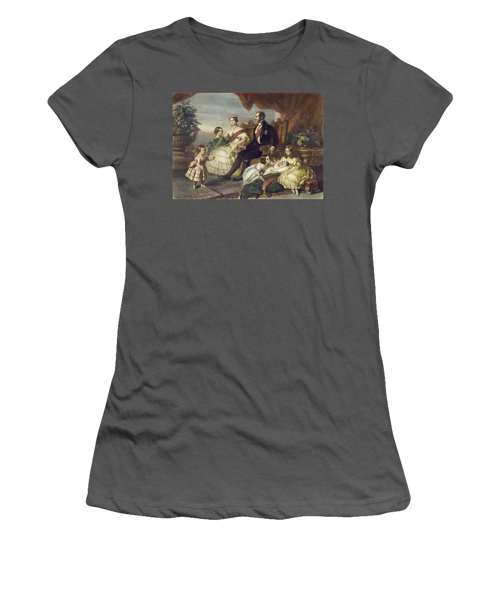 1848 Women's T-Shirt (Athletic Fit) featuring the painting Queen Victoria & Family by Granger