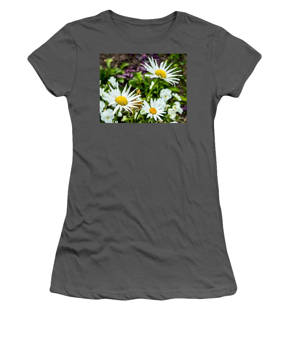 Flowers Women's T-Shirt (Athletic Fit) featuring the photograph Reach For The Sky by Ken Kobe