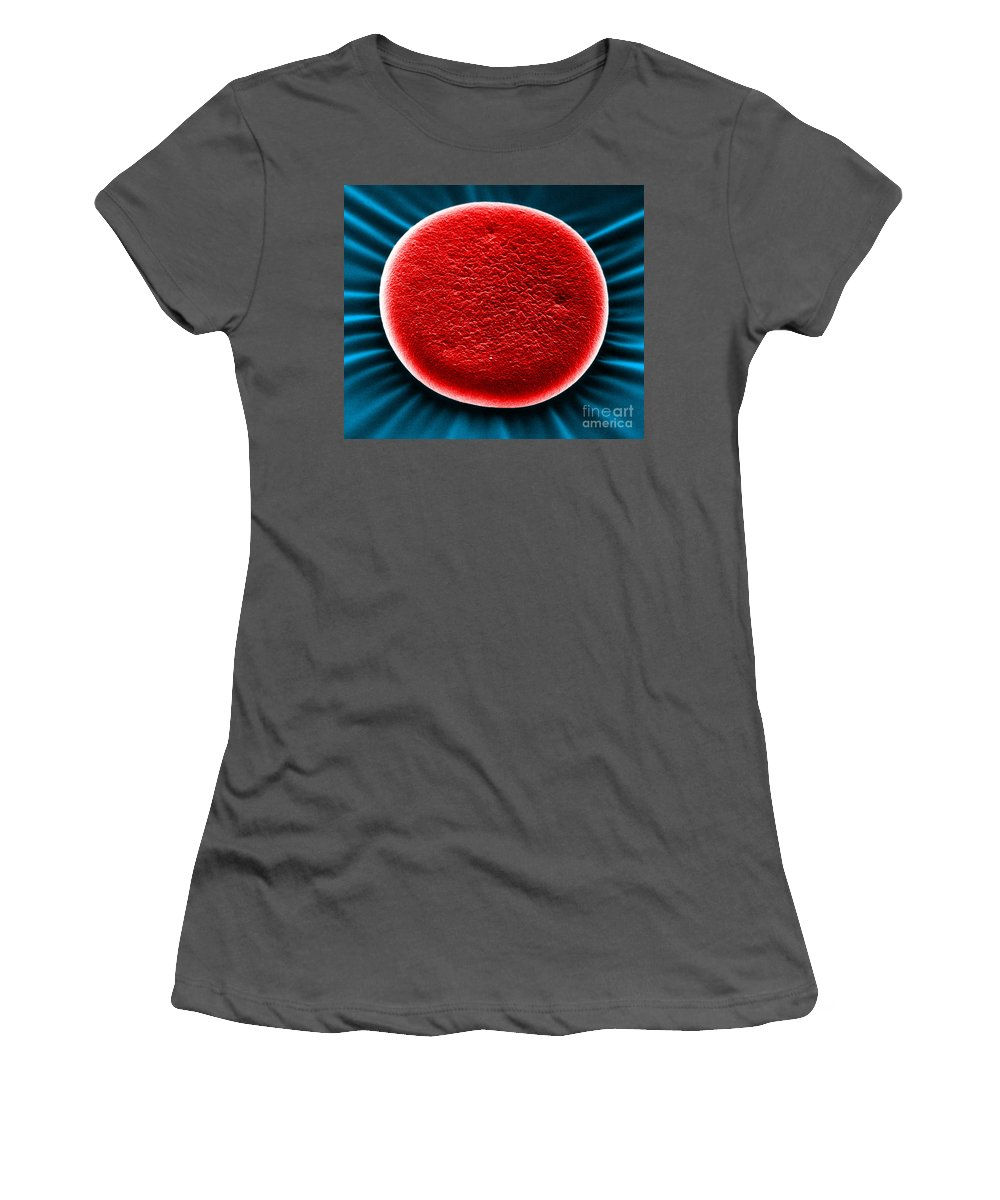 Health Women's T-Shirt (Athletic Fit) featuring the photograph Red Blood Cell Sem by David M Phillips