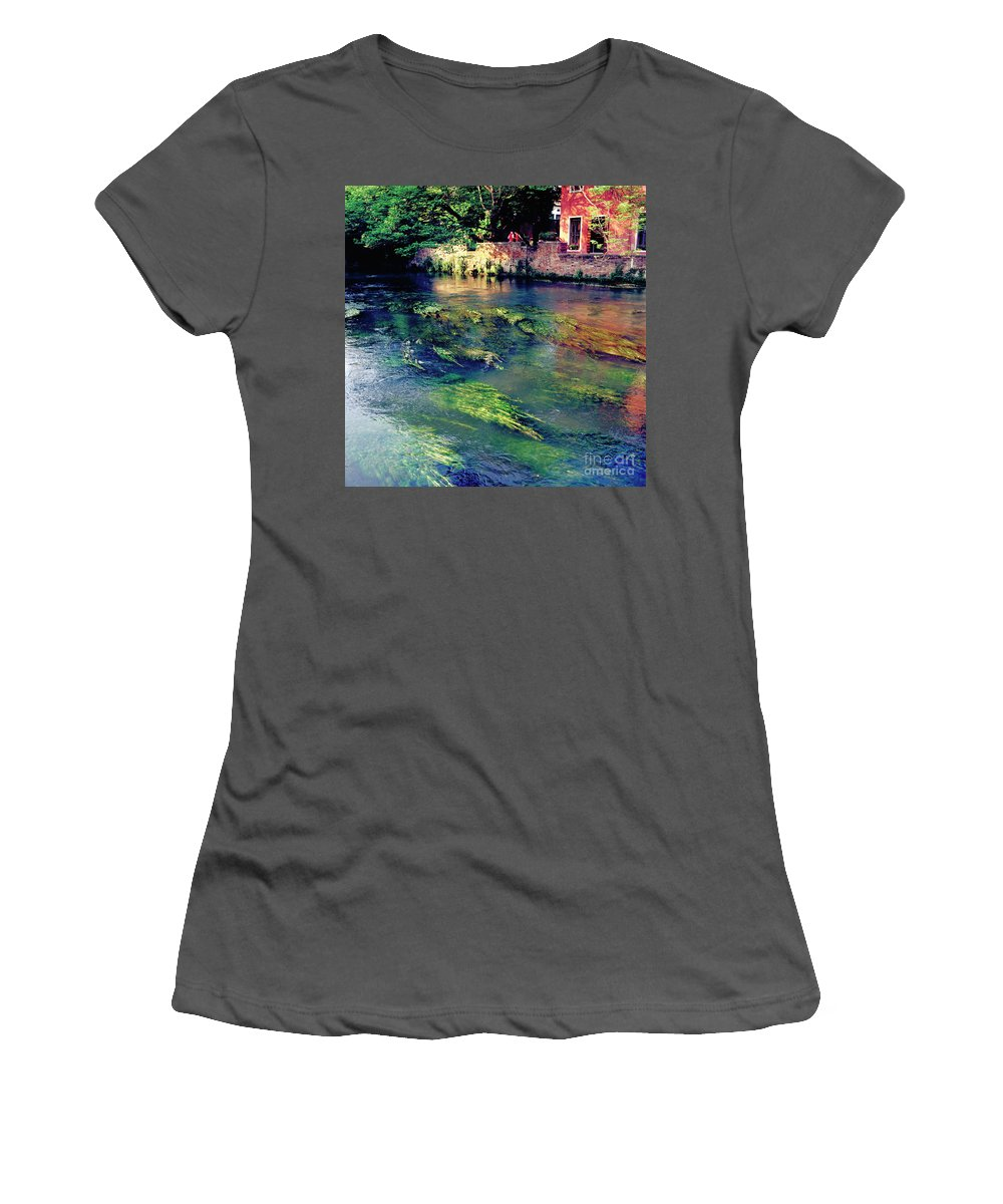 Heiko Women's T-Shirt (Athletic Fit) featuring the photograph River Sile In Treviso Italy by Heiko Koehrer-Wagner