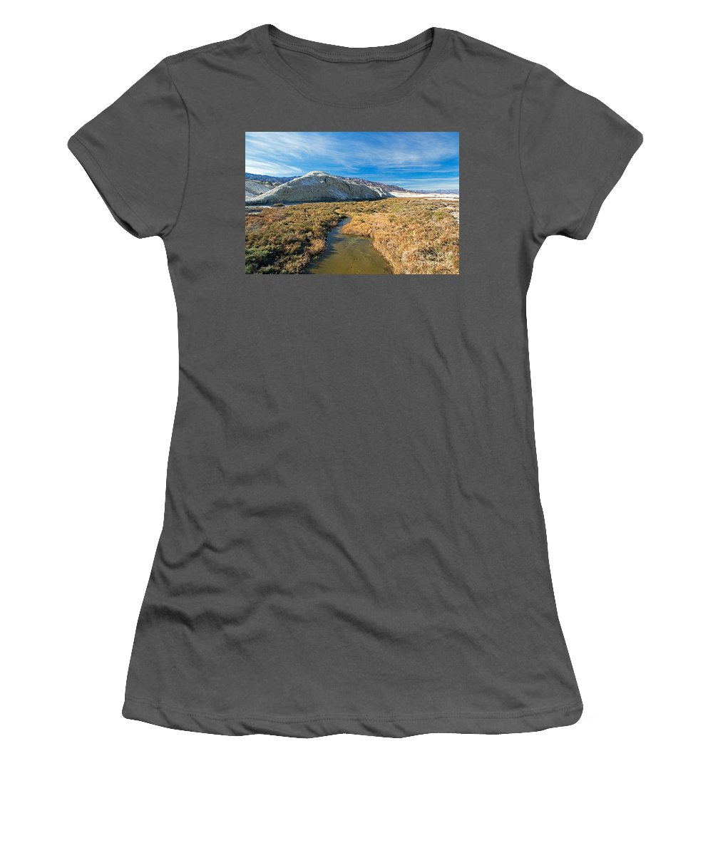 California Women's T-Shirt (Athletic Fit) featuring the photograph Salt Creek Death Alley National Park by Fred Stearns
