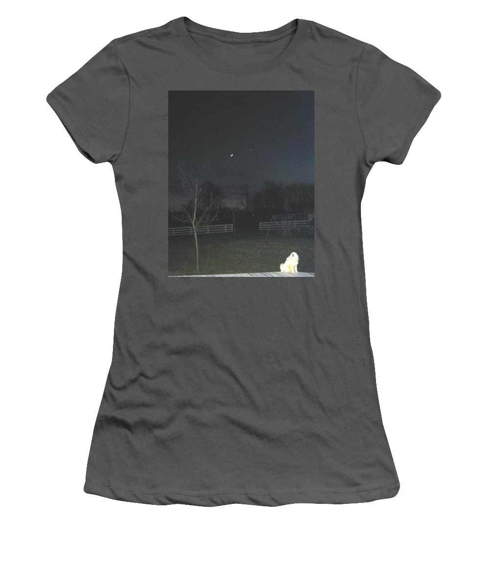 Dog Women's T-Shirt (Athletic Fit) featuring the photograph Sasha by Judith Morris