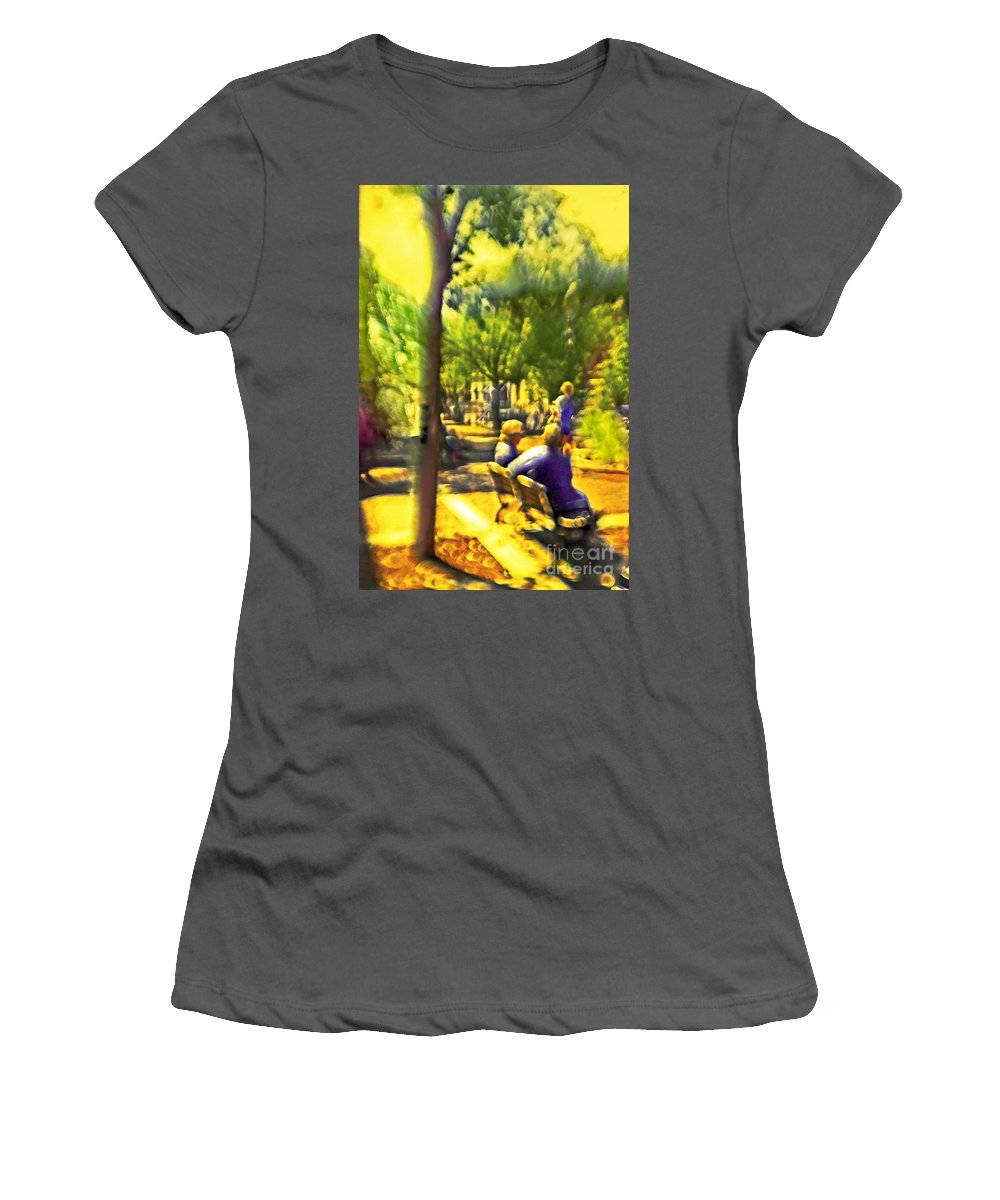 People Women's T-Shirt (Athletic Fit) featuring the photograph Saturday Afternoon by Madeline Ellis