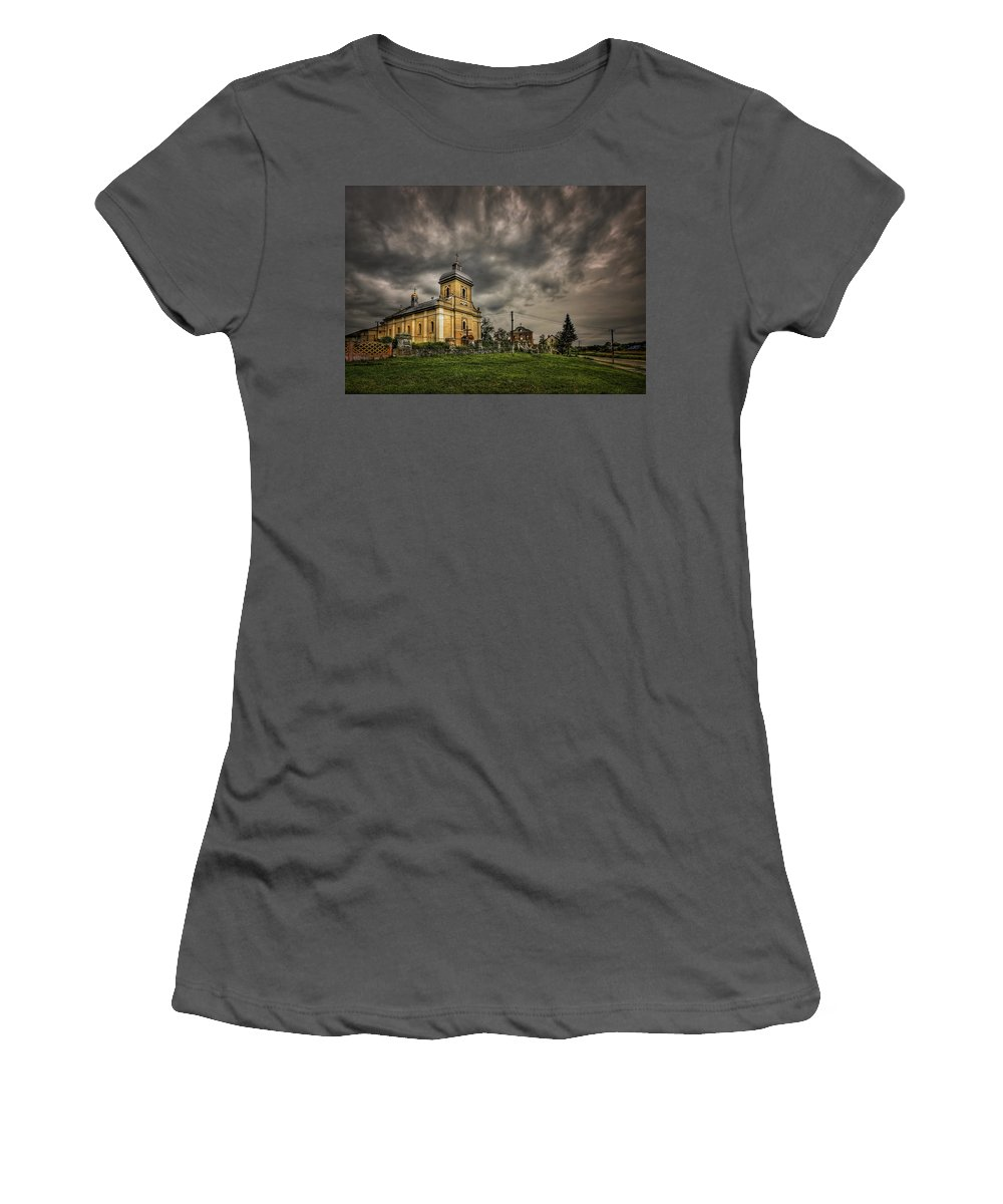 Church Women's T-Shirt (Athletic Fit) featuring the photograph Send Me An Angel by Evelina Kremsdorf