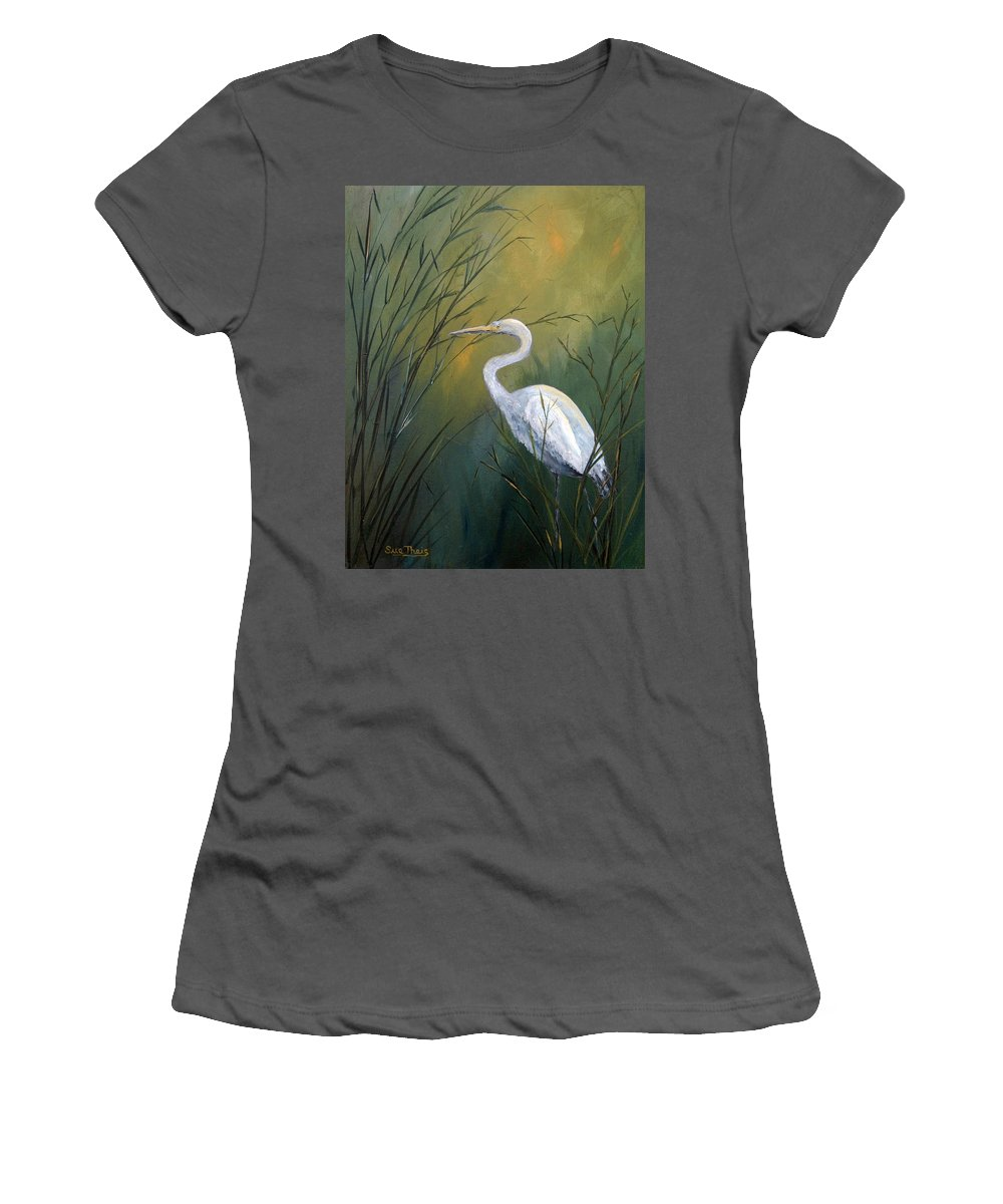 Louisiana Art Women's T-Shirt (Athletic Fit) featuring the painting Serenity by Suzanne Theis