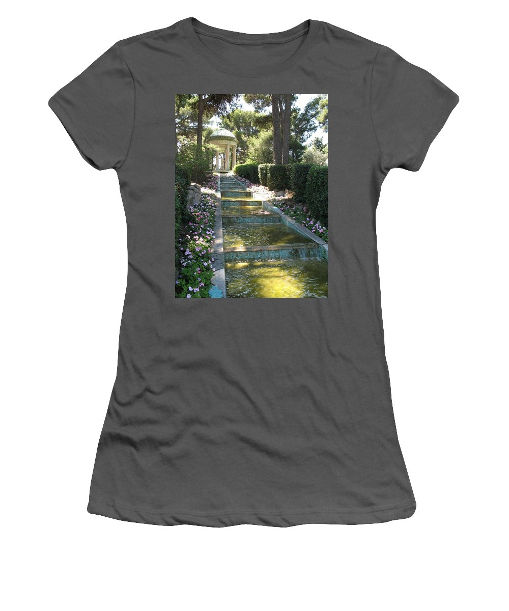 Villa Women's T-Shirt (Athletic Fit) featuring the photograph Shady Pavilion by Christiane Schulze Art And Photography