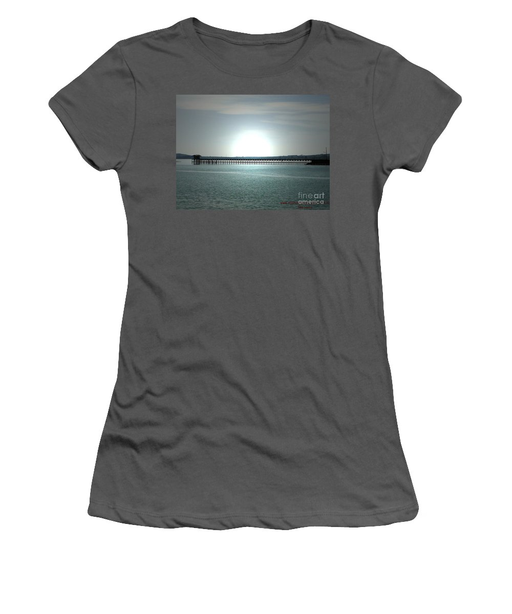 Bridge Women's T-Shirt (Athletic Fit) featuring the photograph Silence 2 by Ben Yassa