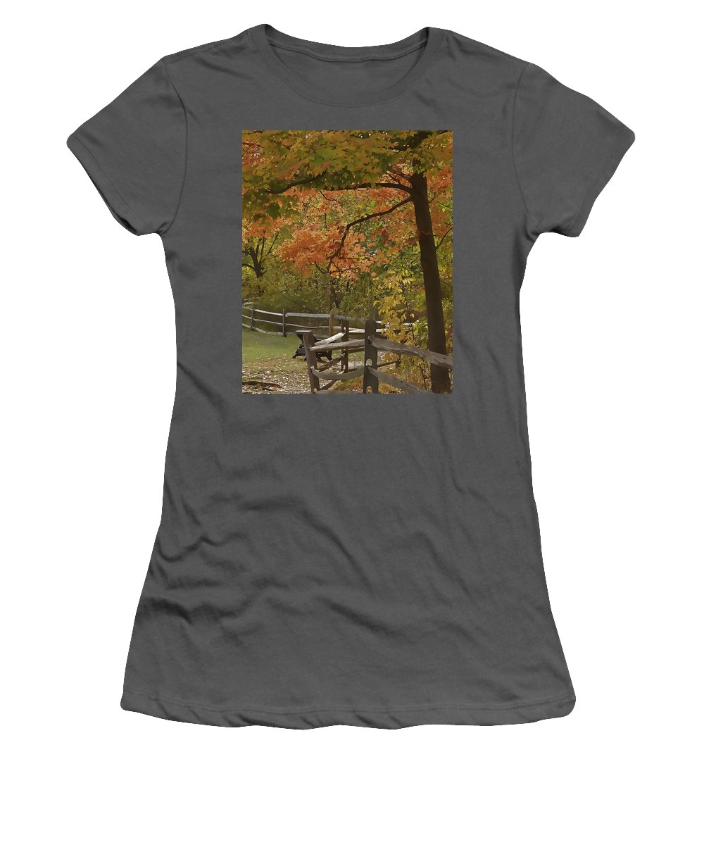Cvnp Women's T-Shirt (Athletic Fit) featuring the photograph Sitting Pretty by Jack R Perry