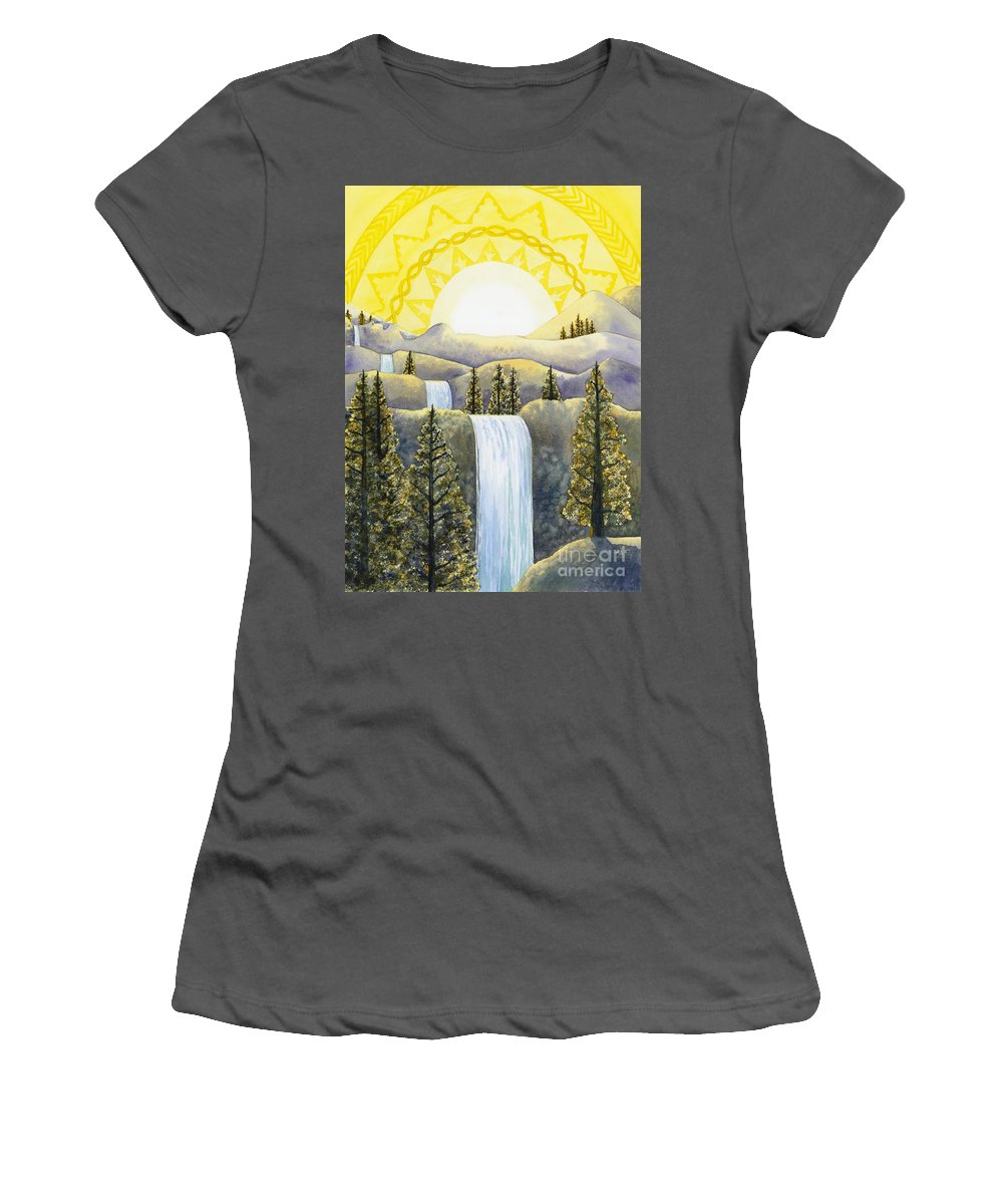 Power Women's T-Shirt (Athletic Fit) featuring the painting Solar Plexus Chakra by Catherine G McElroy
