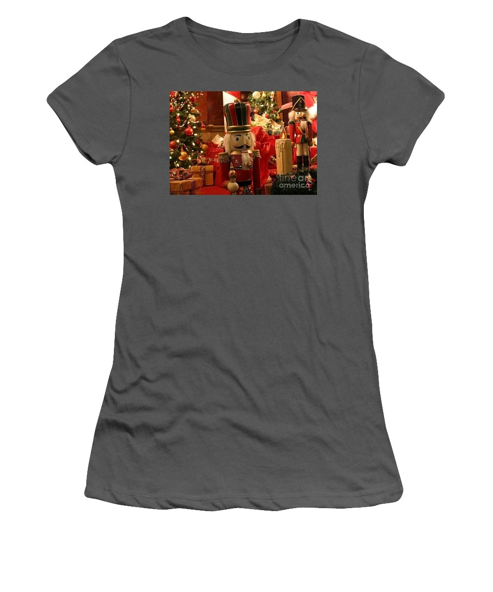 Christmas Women's T-Shirt (Athletic Fit) featuring the photograph Sometimes You Feel Like A Nut by Living Color Photography Lorraine Lynch