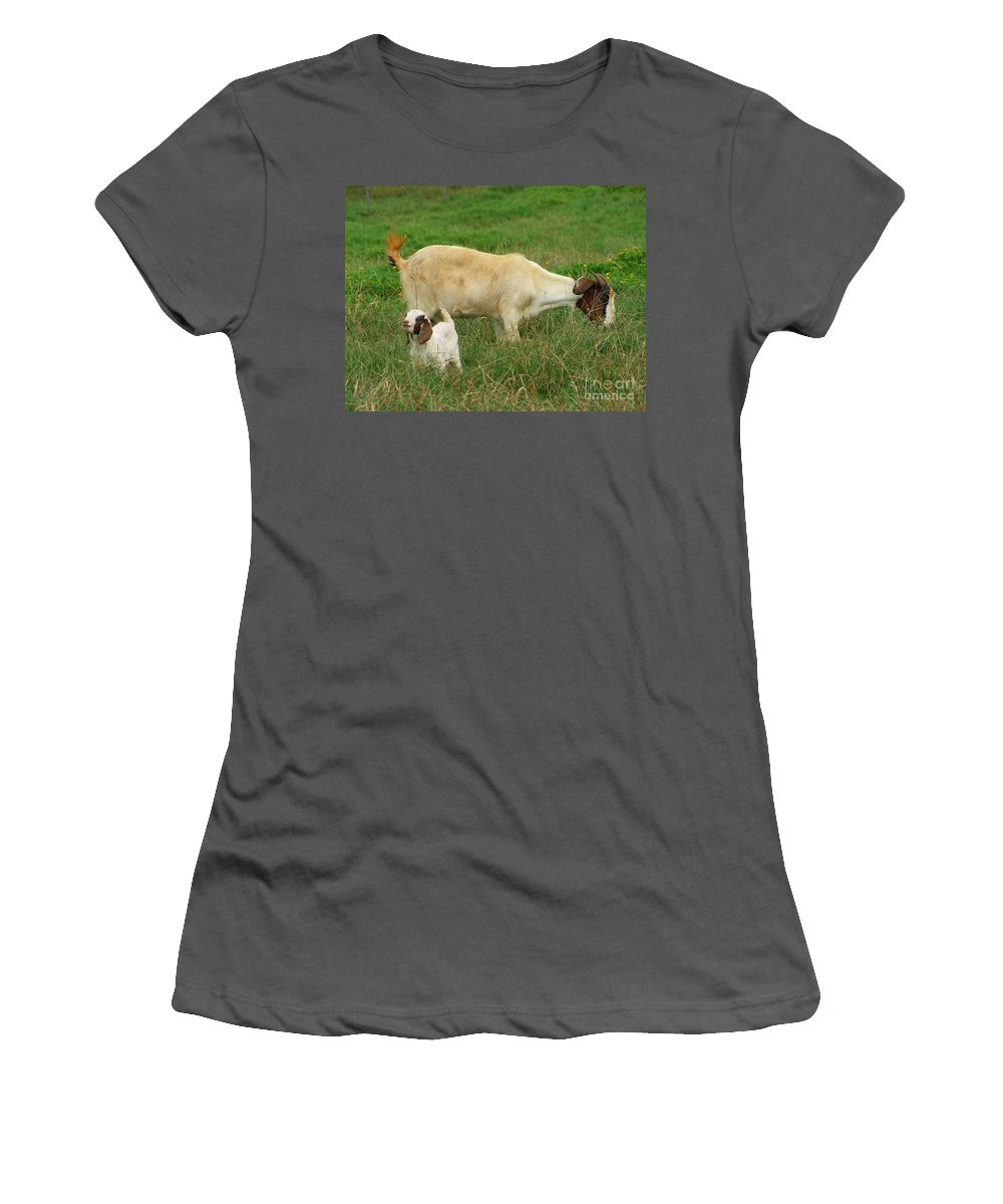 White Women's T-Shirt (Athletic Fit) featuring the photograph Spring Born by Mary Deal
