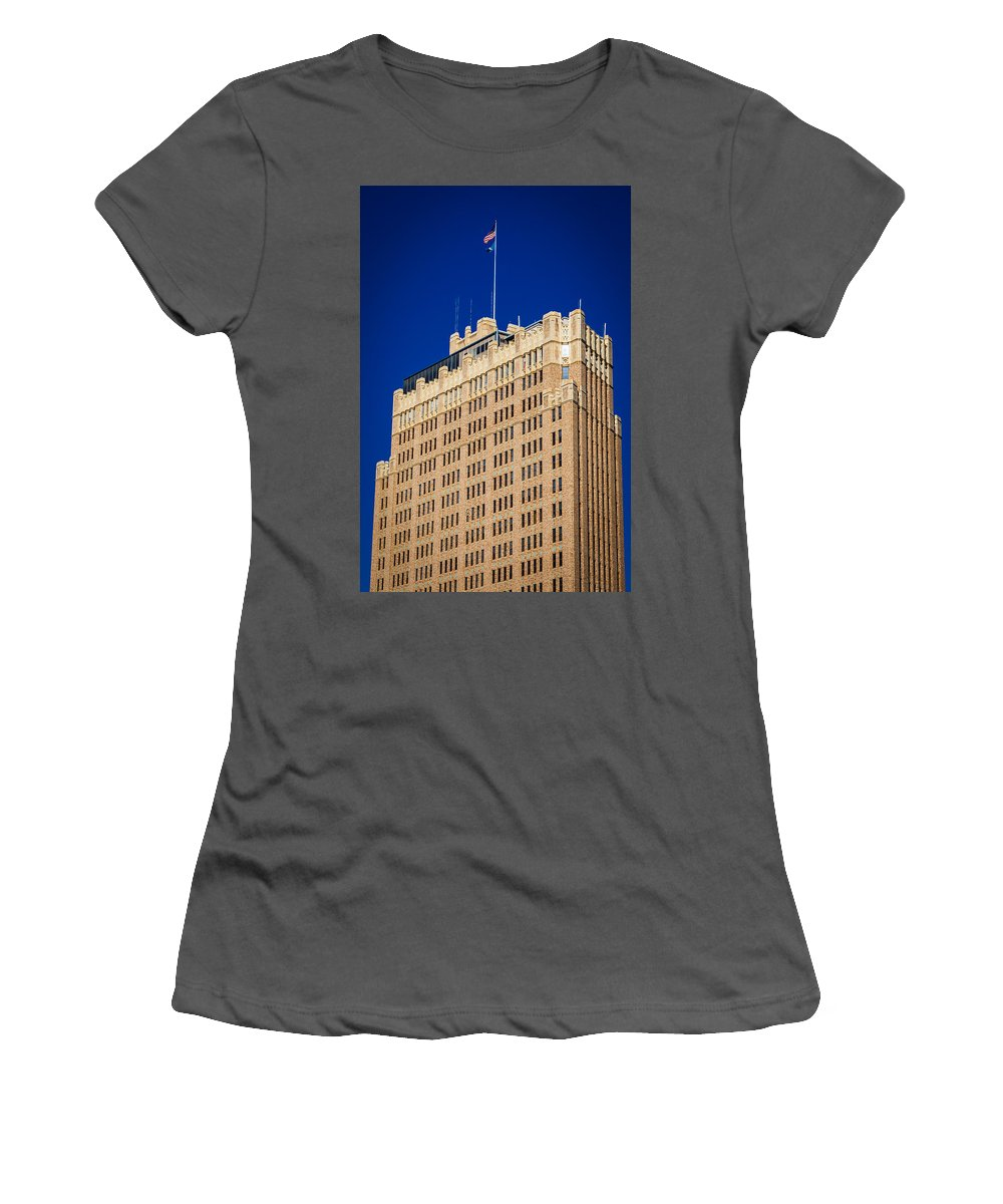 Downtown Women's T-Shirt (Athletic Fit) featuring the photograph Standing Tall In San Antonio by Melinda Ledsome