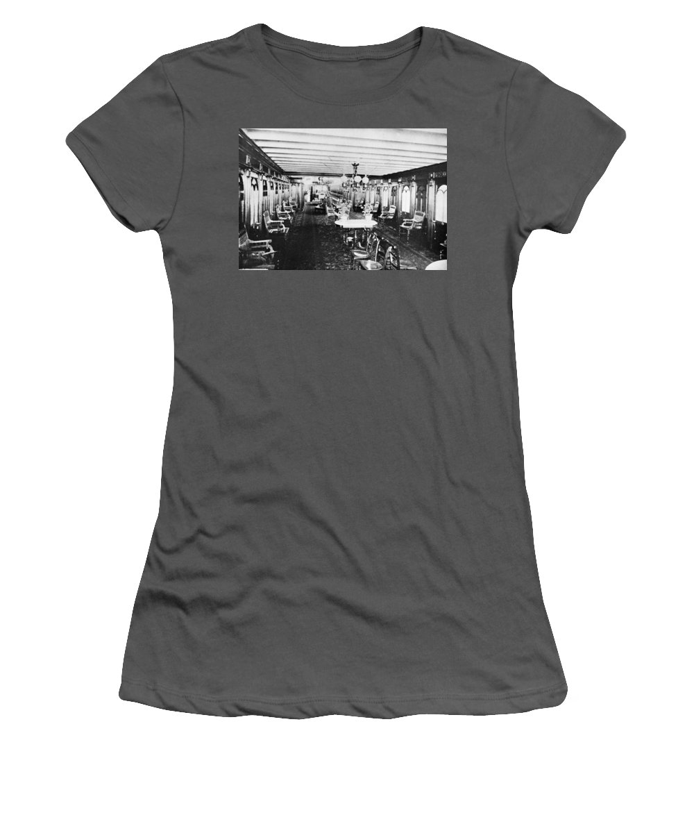 1867 Women's T-Shirt (Athletic Fit) featuring the photograph Steamer Interior, C1867 by Granger