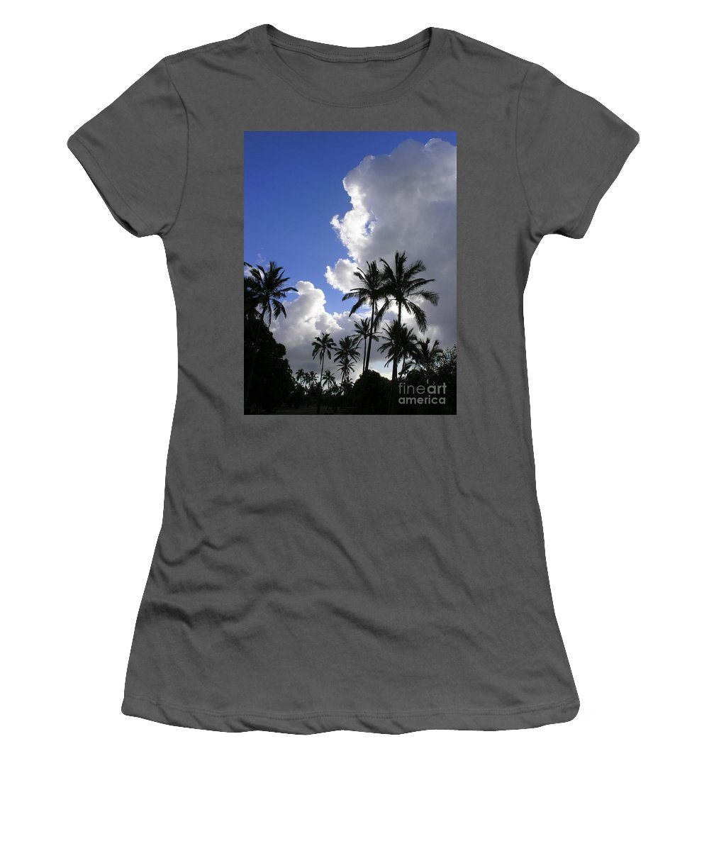 Mary Deal Women's T-Shirt (Athletic Fit) featuring the photograph Storm Rolling In by Mary Deal