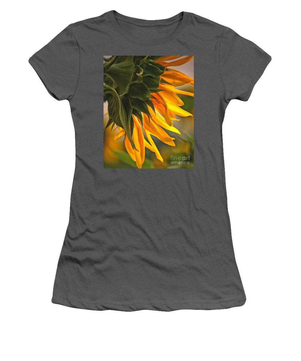 Flower Women's T-Shirt (Athletic Fit) featuring the photograph Sunflower Farm 1 by Kathleen K Parker