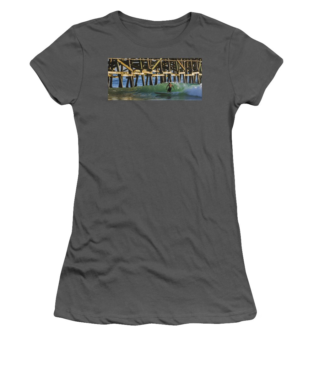 Surfer Women's T-Shirt (Athletic Fit) featuring the photograph Surfer Dude 1 by Scott Campbell